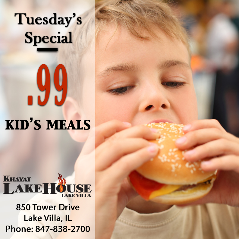 LakeHouse- Lake Villa Tuesday Specials