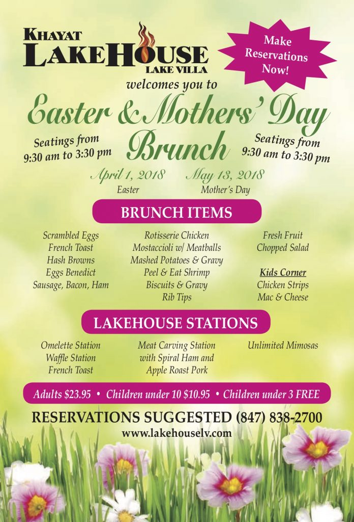 LakeHouse- Lake Villa Easter Brunch Mother's Day Brunch