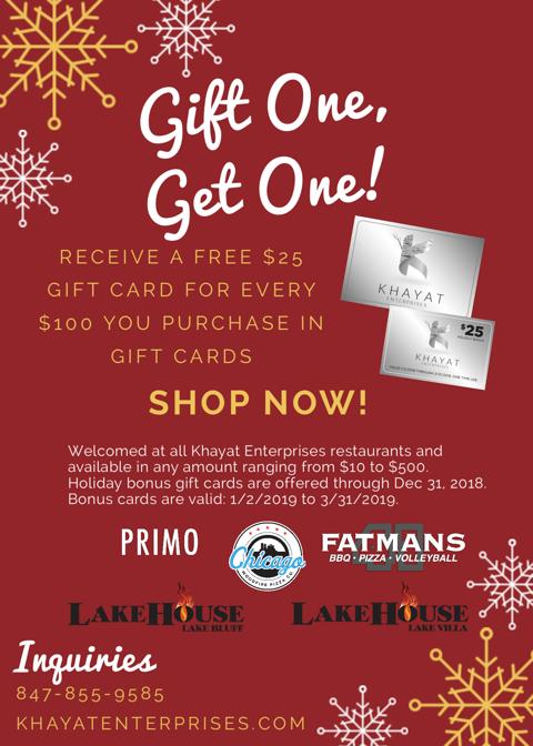 Khayat Enterprises Gift Cards With Holiday Bonus