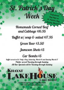 St Patrick's Week Celebration at LakeHouse Lake Bluff