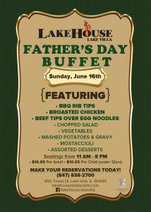 LakeHouse Lake Villa- Father's Day Buffet